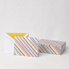 """""""live colorfully"""" foldover notes & gift box Crane & Co. - Kate Spade New York Stationery"""