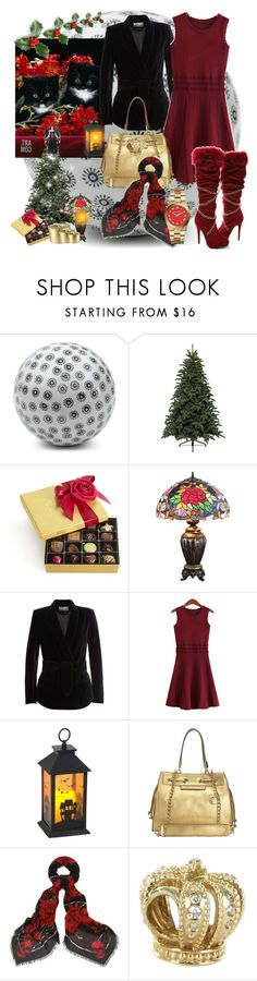 """""""Christmas in the office"""" by amara-m-hafeez ❤ liked on Polyvore featuring Harrods, Balmain, Oscar de la Renta, Juicy Couture, Alexander McQueen, Brooks, Pandora and Incharacter Costumes"""