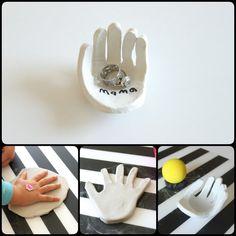 DIY Mothers Day Craft -DIY Hand-Shaped Ring Dish
