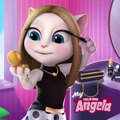 Jogue My Talking Angela no PC e Mac com Bluestacks Android Emulator Talking Tom 2, Funny Tom, Robot Girl, Cute Cartoon Girl, Fun Days Out, Lifetime Movies, Sad Art, Make Up Your Mind, Game Character