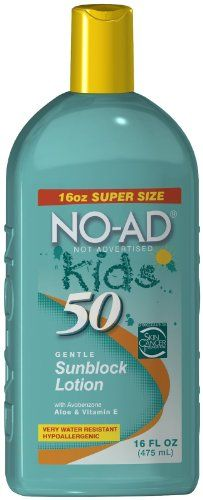 No-Ad Kids Spf50 Sunblock 16oz (Pack of 2) - READ REVIEW @ http://www.sheamoistureproducts.com/store/no-ad-kids-spf50-sunblock-16oz-pack-of-2-2/?a=9653