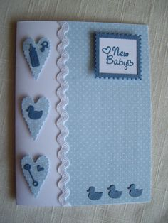 Baby boy card Memory Box Baby Stuff