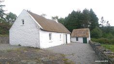 Irish cottage of Sean Mac Diarmada Georgian Mansion, Irish Cottage, Thatched Roof, Wide Plank, Old Buildings, Beams, Ireland, Mac, Watercolor