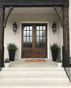 Rusticremodelingideas Farmhouse Front Doors Double Entry French Home