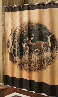 Persis Weirs November Apples Whitetail Shower Curtain Diyhomedecor Deer Rustic Curtains