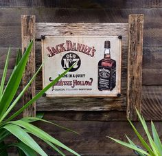 Old time charm Jack Daniels metal sign mounted on frame hand made from recycled materials. Frame measures 60cm x 55cm approx. Perfect for any mancave region of the house or office......$70 Please email newagerustic@gmail.com or see website to order www.newagerusticdesigns.com.au