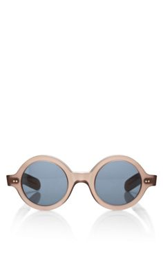Shop Round Frame Acetate Sunglasses by Cutler and Gross Now Available on Moda Operandi