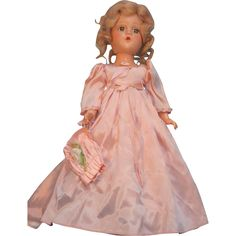 "Madame Alexander Bridesmaid 15"" Composition Doll Circa 1940 Tagged from holichs-dolls on Ruby Lane"