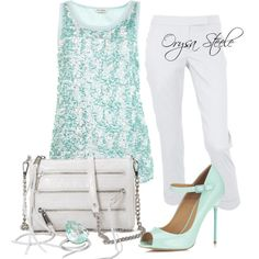 """""""Minty Fresh"""" by orysa on Polyvore"""