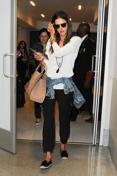 14 Celebs with Amazing Airport Style - Holiday Traveling Outfit Inspiration - Harper's BAZAAR