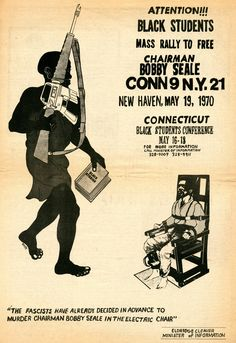 advertisement for a Black Panther Party demonstration to free Bobby Seale, advertised in the Rat Subterranean News