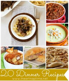 20 #Dinner #Recipes to try on iheartnaptime.com