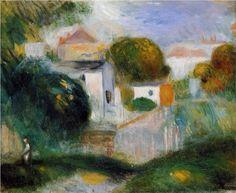 Houses in the Trees - Pierre-Auguste Renoir (1841-1919)