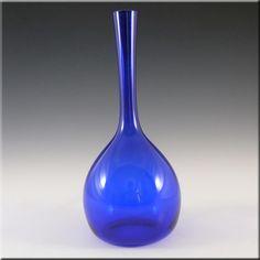 Elme 1970's Swedish/Scandinavian Blue Glass Vase - £17.99