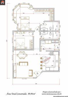 Casa 1 Quartos - 89.96m²