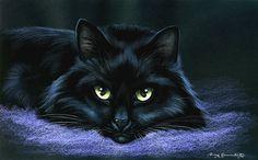 Black Cat Print Adorable by Irina Garmashova by irinagarmashova, £7.50
