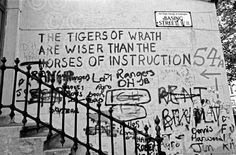 LONDON - MAY 1972 : Basing Street, The tigers of wrath are wiser than horses of instruction