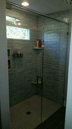 #brittandtilson #asheville #wnc #bathroom #remodel #glass #shower #custom #framelessshowers