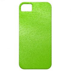 Lime Green Leather Look (Faux) iPhone 5 Cases