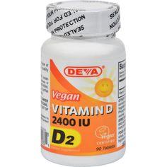 Deva Vegan Vitamin D - 2400 Iu - 90 Tablets