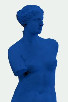 Modern Art - Venus de Milo Blue by is printed with premium inks for brilliant color and then hand-stretched over museum quality stretcher bars. Money Back Guarantee AND Free Return Shipping. Blue Canvas Art, Blue Art, Canvas Artwork, Canvas Prints, Art Prints, Modern Art, Apple, Stretcher Bars, Aphrodite