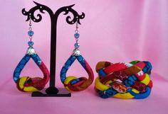Ensemble de Ankara boucles doreilles et Bracelet Bracelet