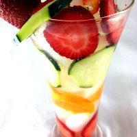 Permalink to: Tangerine, Cucumber and Strawberry Infused Water