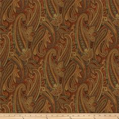 Fabricut Hera Paisley Jacquard Harvest from @fabricdotcom  This very heavyweight woven jacquard fabric is very versatile and perfect for window treatments (draperies, curtains, valances, swags), duvet covers, pillow shams, toss pillows, slipcovers and upholstery.