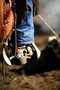 In my past life I was a cowboy... just love them boots and jeans:)
