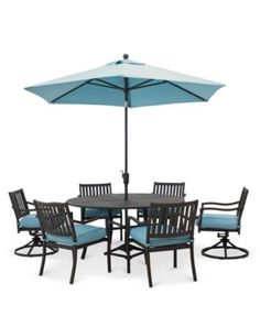 Holden Outdoor Aluminum Dining Set Round Dining Table,, 4 Dining Chairs And  2 Swivel Rockers), Created For Macyu0027s   Furniture   Macyu0027s