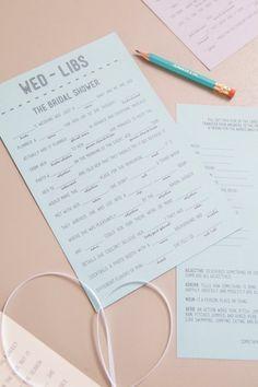 Free Printable Wedding Mad Libs | POPSUGAR Smart Living Photo 10