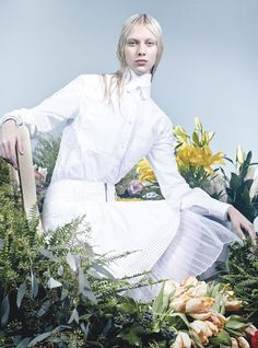 """""""The Whites Of Spring"""", Juliana Schurig by Craig McDean for W Magazine March 2013"""