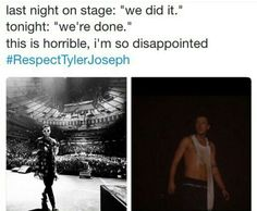 #respectTylerJoseph<< this pisses me off,  those people weren't part of the clique they were just drunk rude people with no respect whatsoever.... Tyler I want you to know that we fully respect you and Josh and we would never do that to you