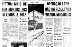 Trem da Cantareira - capa do jornal Folha de Sao Paulo 31 de Maio de 1965