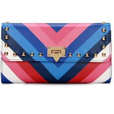 Yoins Bold Stripe Studded Foldover Leather-look Clutch Bag ($25) ❤ liked on Polyvore featuring bags, handbags, clutches, yoins, purses, black, studded crossbody purse, fold over crossbody purse, cross-body handbag and crossbody purses
