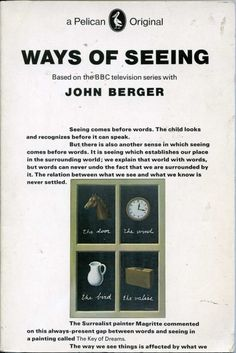 The book Ways of Seeing was made by Berger and Dibb, along with Sven Blomberg, Chris Fox, and Richard Hollis.[1] The book consists of seven numbered essays: four using words and images; and three essays using only images. The book has contributed to feminist readings of popular culture, through essays that focus particularly on depictions of women in advertisements and oil paintings. Ways of Seeing is considered a seminal text for current studies of visual culture and art history.
