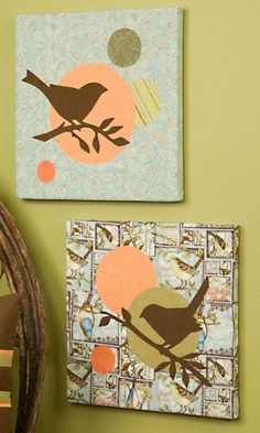 Art Projects | ... your home with beautiful fabric wall art featuring bird silhouettes