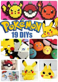 Fantastic Pokemon DIYs for Pokemon Go Lovers - check out all these great ideas - love the pokemon parties, as well as those adorable Pokemon ornaments