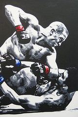 Mma Paintings - GSP Ground N Pound  by Geo Thomson