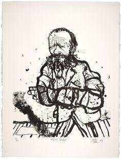 john olsen : portrait of albert tucker : 1973