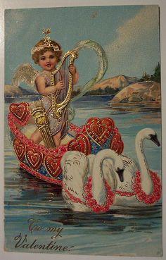 Vintage Valentine's Day Postcard by riptheskull, via Flickr