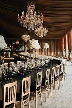 A Sophisticated & Glamorous Gatsby-Inspired Wedding at the Biltmore Estate - Chic Vintage Brides : Chic Vintage Brides Great Gatsby Wedding, Star Wedding, Elegant Wedding, Rustic Wedding, Fall Wedding, Dream Wedding, 20s Wedding, Sophisticated Wedding, Wedding Shot