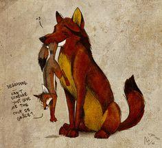 fox on deviantart - Culpeo Fox
