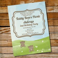 Teddy Bear Picnic Party Theme  Instantly by SunshineParties, $5.00