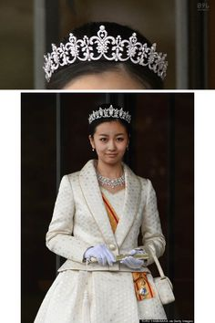 Japan's Princess Kako attended an event at the Imperial Palace in December 2014 to celebrate her 20th birthday and her debut as an adult member of the imperial family. Kako prayed at the Three Palace Sanctuaries in the palace grounds, after which Emperor Akihito bestowed her with a decoration known as the Grand Cordon of the Order of the Precious Crown. Her tiara, necklace earrings, bracelet and brooch, made by Mikimoto, are the new diamond parure given to the Princess on her 20th birthday.