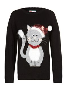 christmas jumpers primark women's christmas jumpers cat themed women's cheap clothing - cosmopolitan.co.uk