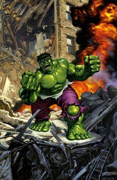 The Rampaging Hulk painting by Joe Jusko Comic Art
