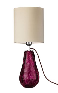Luxe Fuchsia Art Glass Table Lamp, So Beautiful, Sharing Hollywood Luxury Lifestyle Home Decor Inspirations & Gift Ideas Courtesy Of InStyle-Decor.com Beverly Hills Luxe Designer Furniture & Interiors Enjoy & Happy