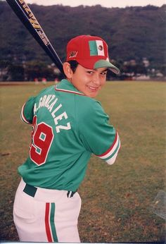 A young Adrian Gonzalez