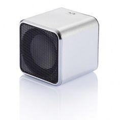 Square speaker, zilver
